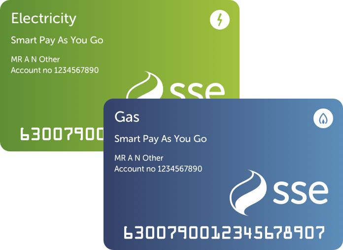 SSE Smart Pay As You Go Cards for gas and electricity